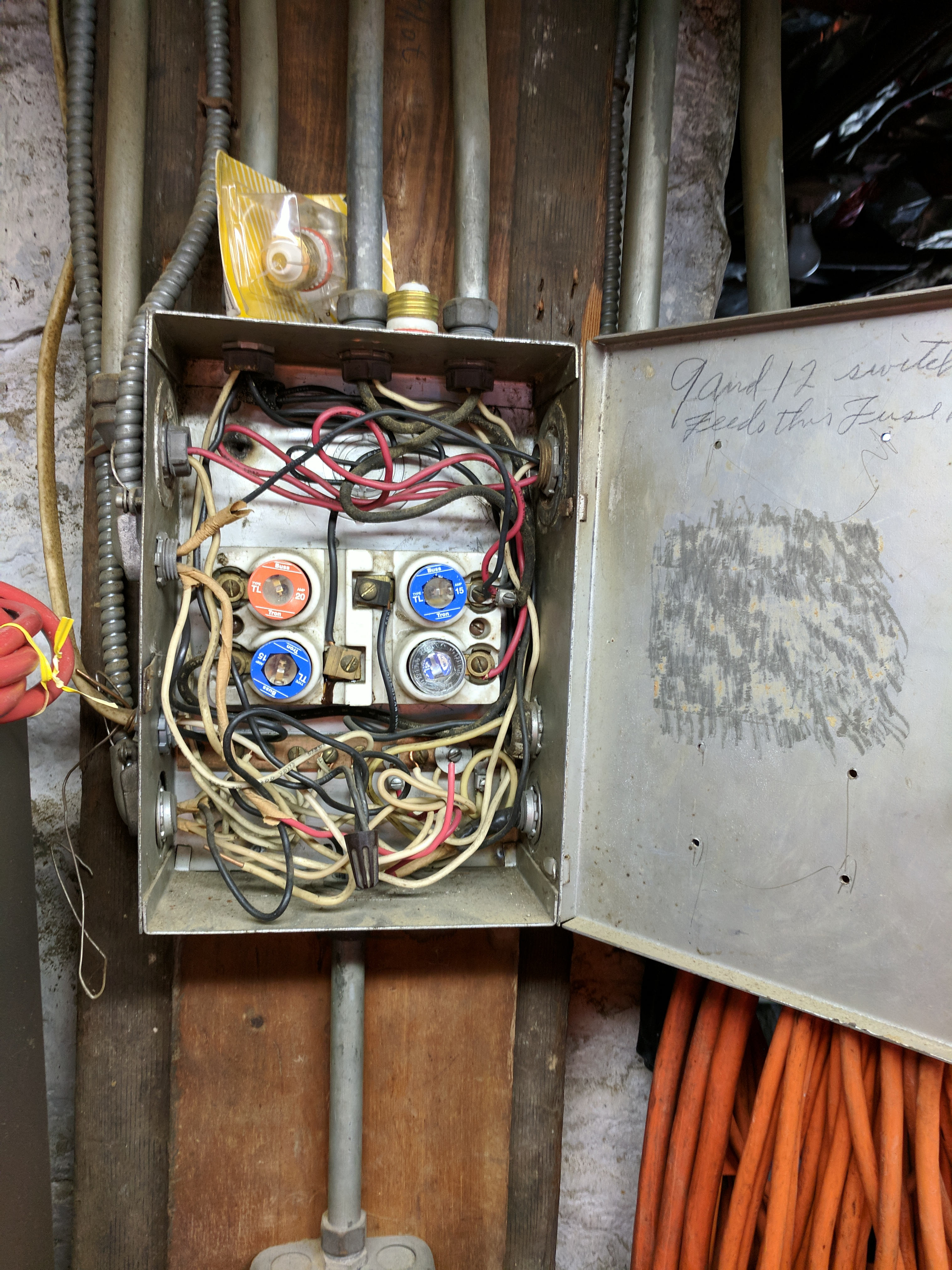 Replaced Old Electrical Fuses With A New Service Panel Home Wiring Share This